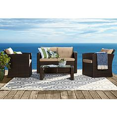 Carmel All-Weather Wicker 4-Piece Patio Conversation Set