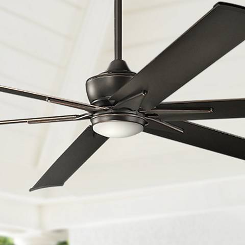 "96"" Kichler Szeplo II Olde Bronze Wet LED Ceiling Fan"