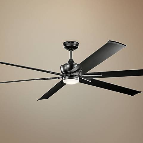 "96"" Kichler Szeplo II Satin Black LED Ceiling Fan"