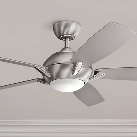 "54"" Kichler Geno Brushed Stainless Steel LED Ceiling Fan"