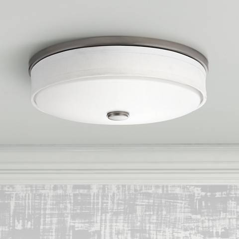 "Kichler Santiago 13"" Wide Brushed Nickel LED Ceiling Light"