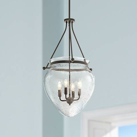 "Kichler Belle 16 1/2"" Wide Olde Bronze 4-Light Foyer Pendant"