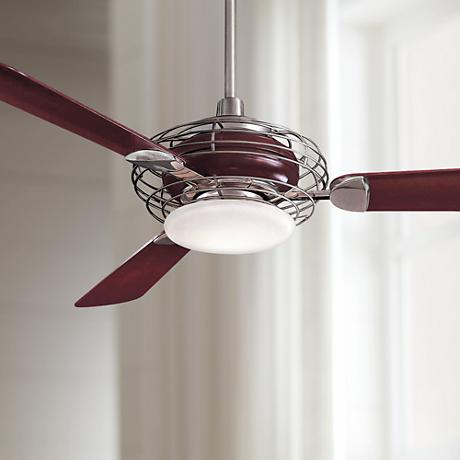 "52"" Minka Aire Acero Brushed Steel Finish Ceiling Fan"