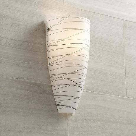 "Possini Euro Design 13 1/4"" High Art Glass Wall Sconce"