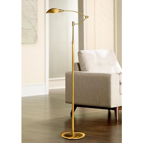 Punkt 1 Antique Brass Pharmacy Holtkoetter Floor Lamp