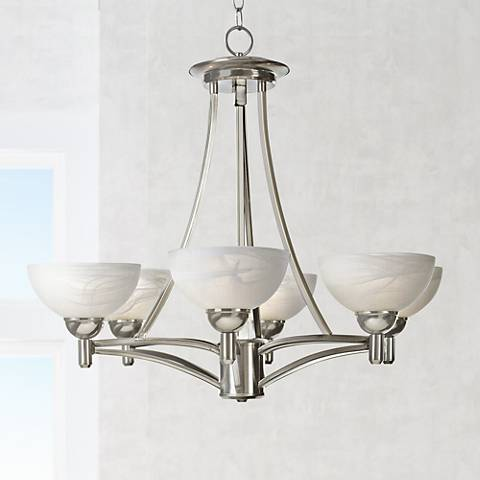"Kathy Ireland 29"" Wide Deco Scale Chandelier"