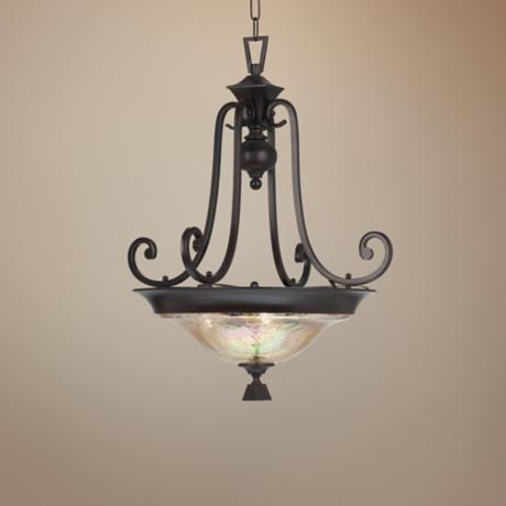 Elba Collection Three Light Pendant Chandelier