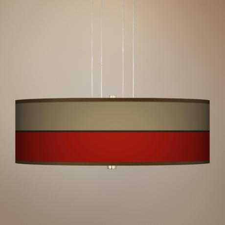 "Empire Red 20"" Wide 3-Light Pendant Chandelier"