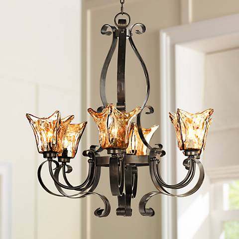 "Uttermost Vetraio Collection 31"" Wide 6-Light Chandelier"
