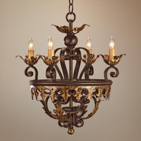 Currey and Company Castello 4-Light Chandelier