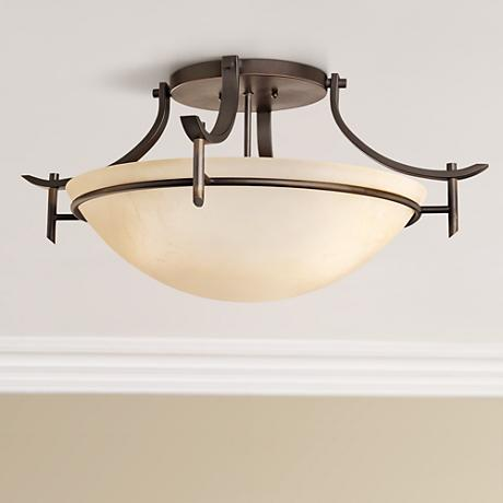 "Olympia Bronze 24"" Wide Ceiling Light Fixture"