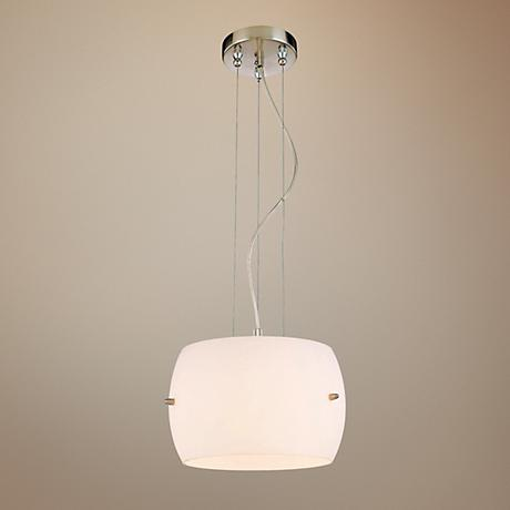 "George Kovacs White Frosted Glass 12"" Wide Pendant Light"