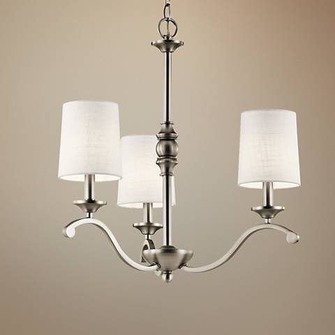 "Kichler Versailles 23""W Antique Pewter 3-Light Chandelier"