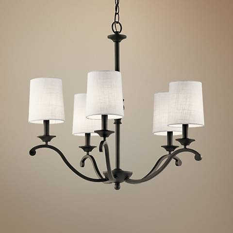 "Kichler Versailles 26 1/4""W Olde Bronze 5-Light Chandelier"
