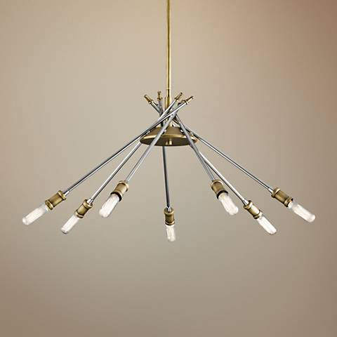 "Kichler Doncaster 23 3/4""W Natural Brass 7-Light Chandelier"