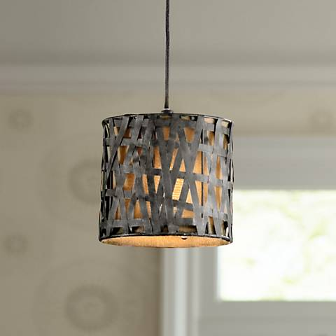 Alita Rust Black Mini Pendant Chandelier