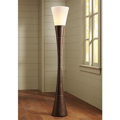 Possini Euro Design Urban Coffee Torchiere Floor Lamp 19925
