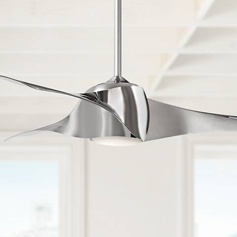 "58"" Artemis Liquid Nickel LED Ceiling Fan"