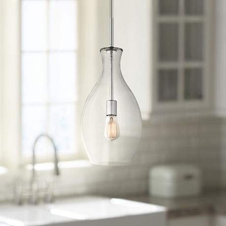 "Kichler Beckett Everly 8.75"" Wide Glass Pendant"