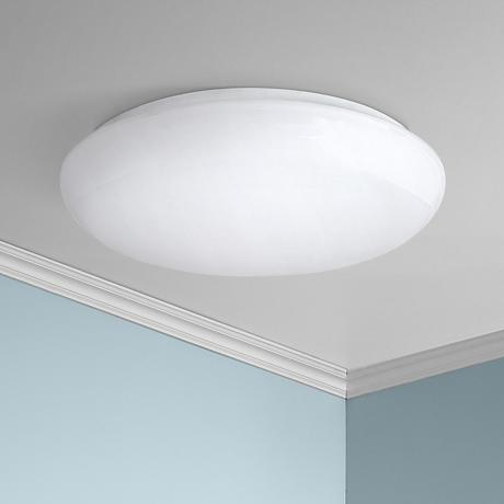 "Levine Shallow Flushmount 19"" Wide White LED Ceiling Light"