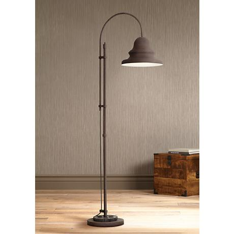 Industrial Gear Downbridge Dark Rust Floor Lamp
