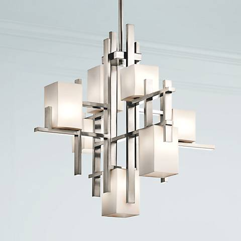 "Kichler City Lights Steel 23.5"" Wide Chandelier"