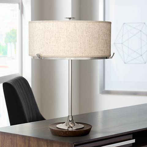Robert Abbey Edwin Polished Nickel Table Lamp