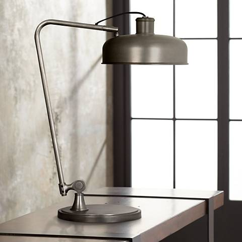 Robert Abbey Albert Patina Nickel Desk Lamp