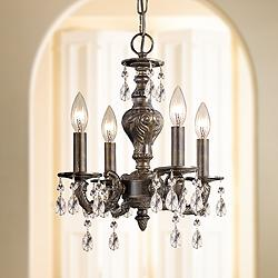 "Sutton 13 1/2"" Wide Venetian Bronze Chandelier"