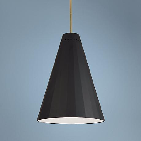 Jonathan Adler Antwerp Black and Brass Pendant Light