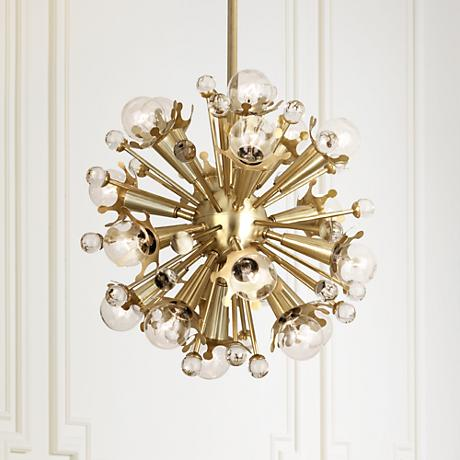 Jonathan Adler Sputnik 18-Light Antique Brass Pendant Light
