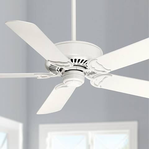 "54"" Casablanca Panama DC Snow White Energy Star Ceiling Fan"