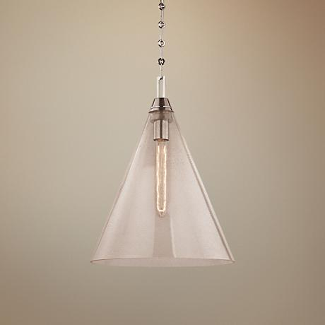 "Newbury 14"" Wide Polished Nickel Pendant Light"