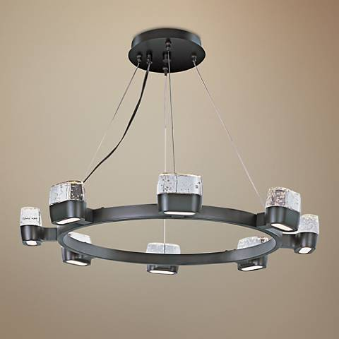 "ET2 Volt 28"" Wide Bronze LED Pendant Light"