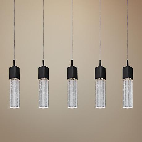 ET2 Fizz III 39 Wide Bronze LED Multi Light Pendant 1D656 Lamps Plus