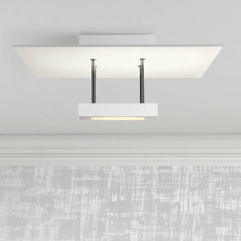 "Chromaglo™ 15""W Bright White Square LED Ceiling Light"