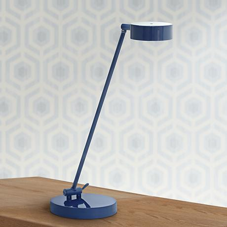 House of Troy Generation Navy Blue LED Desk Lamp
