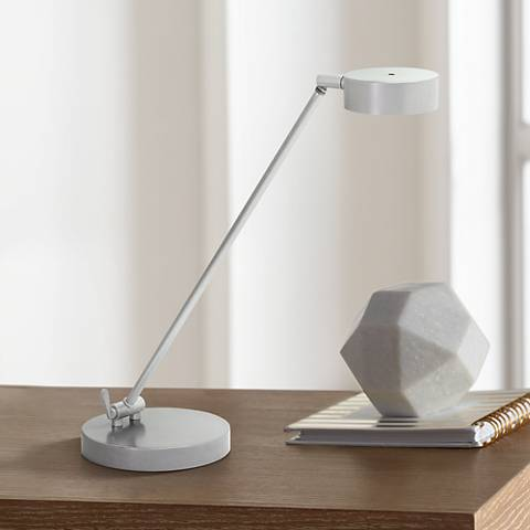 House of Troy Generation Platinum Gray LED Desk Lamp