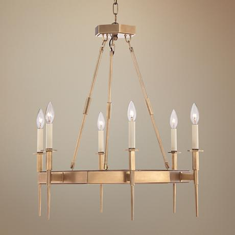 "Tinley 24 1/2"" Wide Gold 6-Light Chandelier"