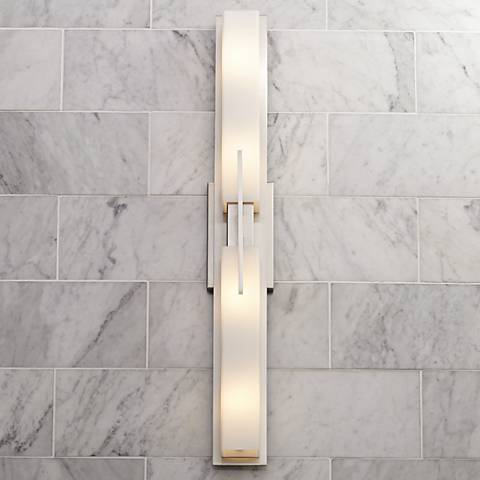 "Possini Euro Midtown 31 3/4"" Wide Satin Nickel Bath Light"
