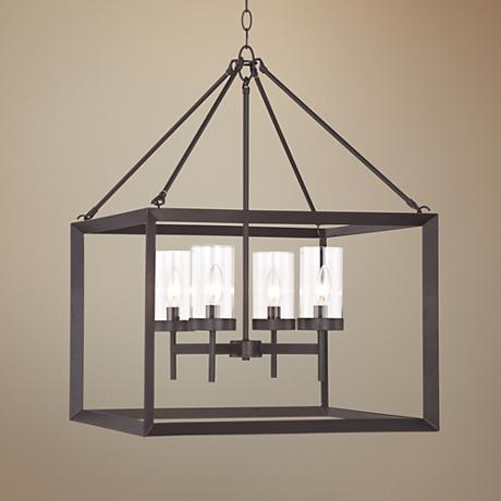"Cove Point 21"" Wide Open Frame Square Chandelier"
