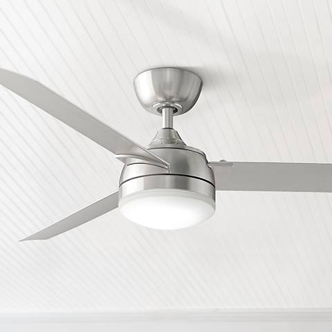 "56"" Fanimation Xeno Brushed Nickel LED Ceiling Fan"