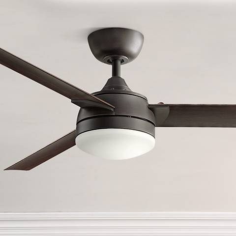 "56"" Fanimation Xeno Dark Bronze LED Ceiling Fan"