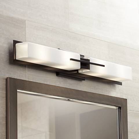 "Possini Euro Midtown 31 3/4""W Bronze Bath Bar Light Fixture"