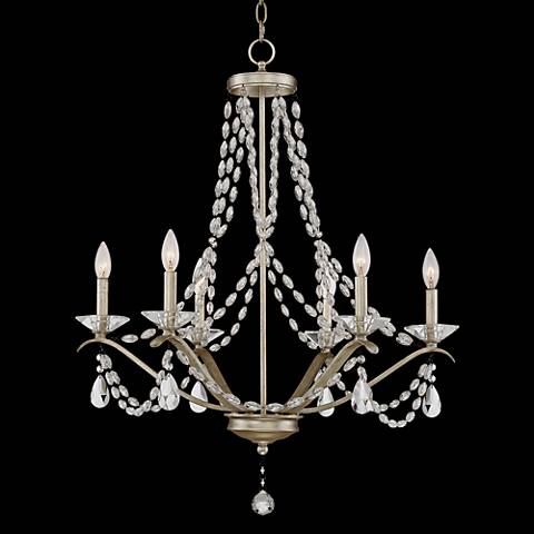 "Clemence 6-Light 27"" Wide Gold Scavo Chandelier"