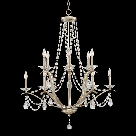 "Clemence 12-Light 32"" Wide Gold Scavo Chandelier"