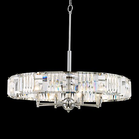 "Possini Euro Chrome 29"" Wide Crystal Pendant Light"