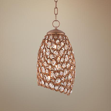 "Bellriver Light Gold 16"" Wide Crystal LED Mini Pendant"