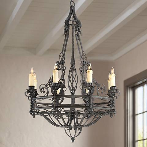 "Bogata 38 1/2"" Wide Bronze 8-Light Chandelier"