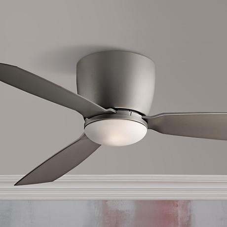 "44"" Fanimation Embrace Matte Greige Hugger Ceiling Fan"